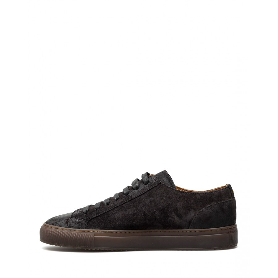 Men's Shoes Sneakers DOUCAL'S Oil Antracite Suede Dark Gray