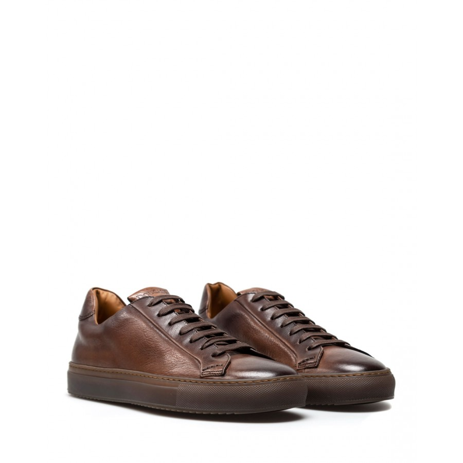 Men's Shoes Sneakers DOUCAL'S Triumph Leather Brown