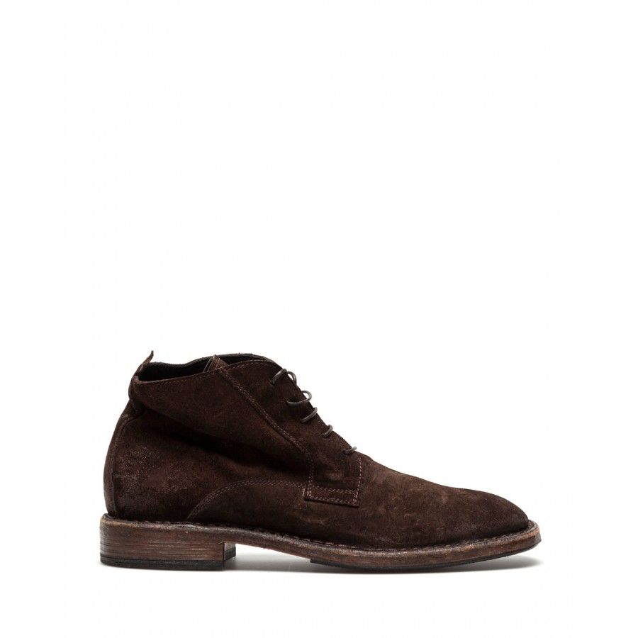 Men's Shoes Ankle Boots MOMA 2BW037 Crosta TMoro Leather Brown