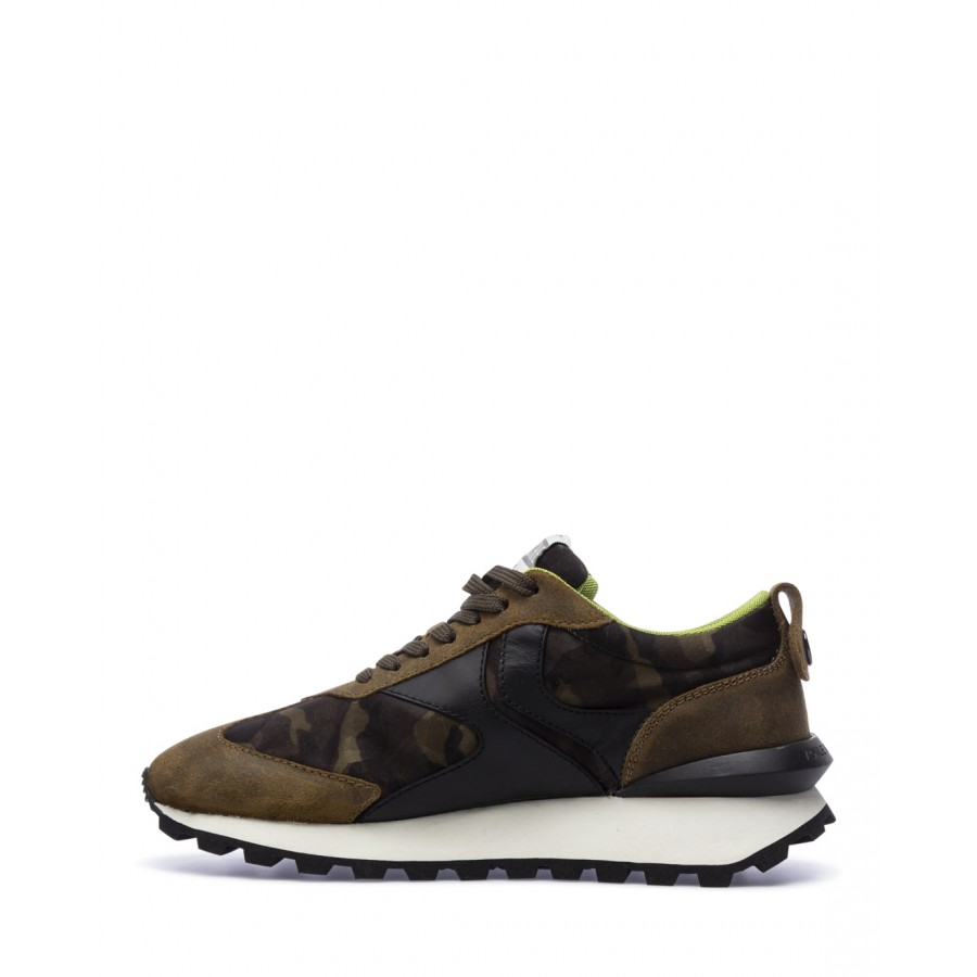 Men's Sneakers VOILE BLANCHE Qwark Army Camouflag Brown