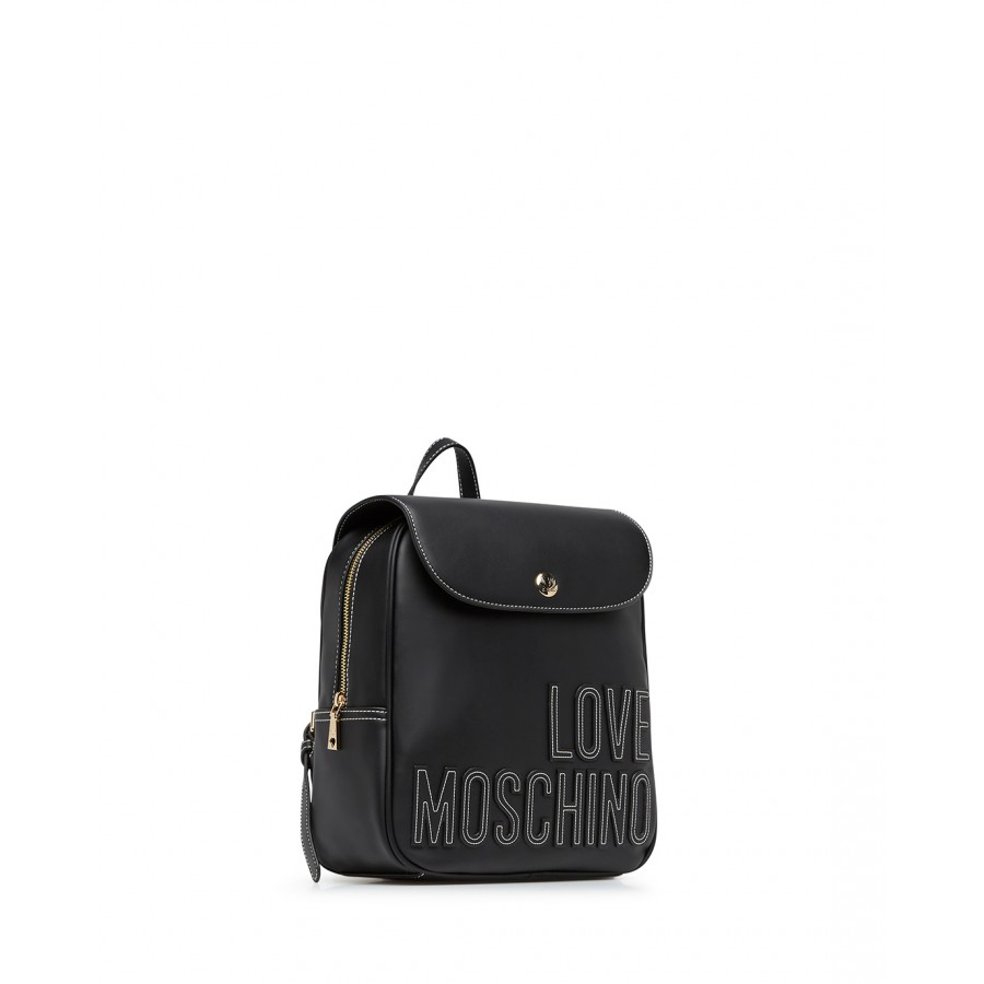 Women's Backpack LOVE MOSCHINO JC4178 Pu Synthetic Black