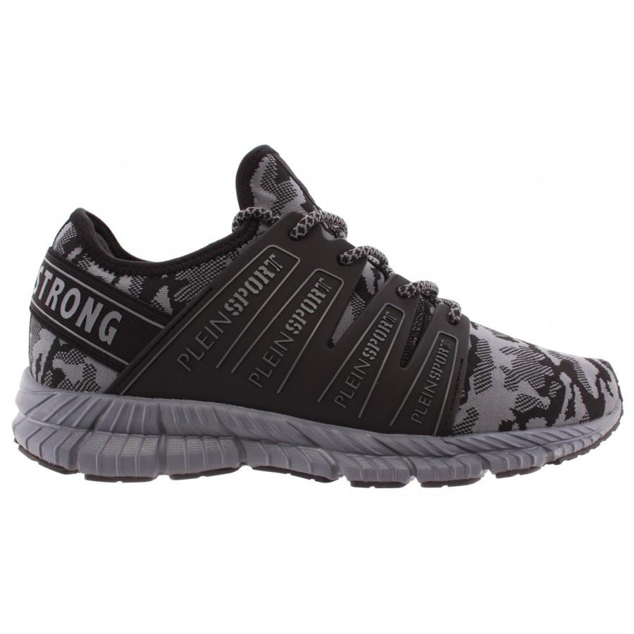 Men's Sneakers PLEIN SPORT Runner Backside Grey Sock New