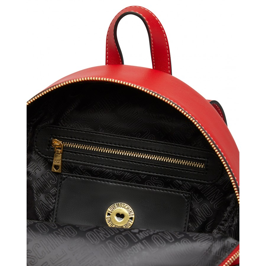 Women's Bag Backpack LOVE MOSCHINO JC4200 Pu Red Synthetic Leather