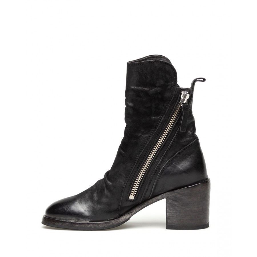 Women's Ankle Boots MOMA 1CW183-BA Bandolero Nero Leather Black