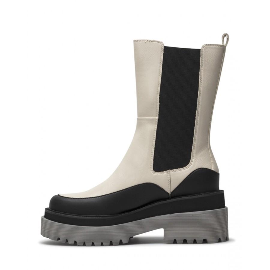 Women's Ankle Boots LIU JO Milano Purple10 Papyrus Beige