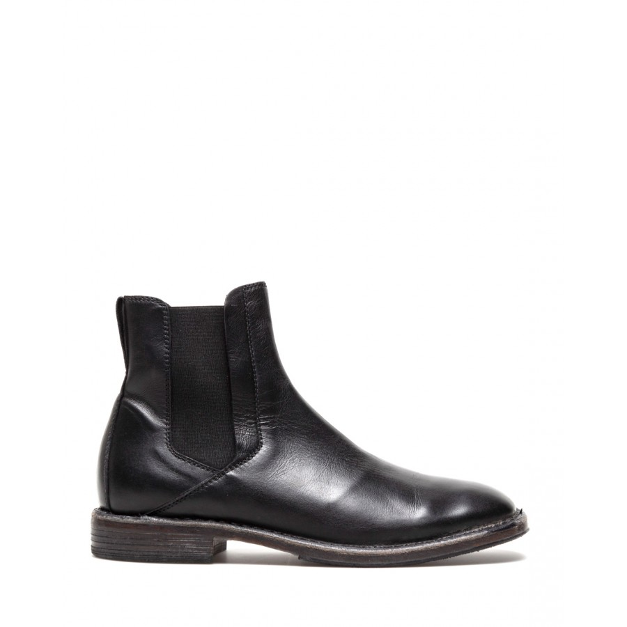 Men's Shoes Ankle Boots MOMA 2CW038 Calf Leather Black