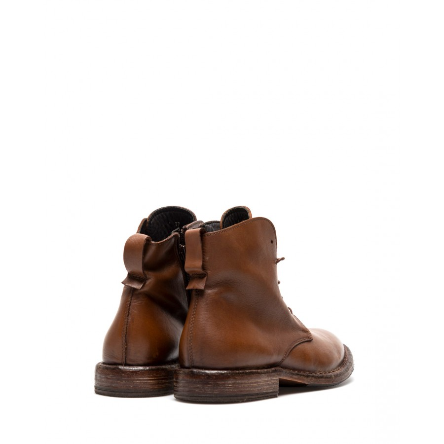 Women's Shoes Ankle Boots MOMA 1CW003 Calfskin Leather Light Brown