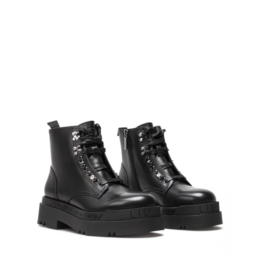 Women's Ankle Boots LIU JO Milano Love 14 Black Leather
