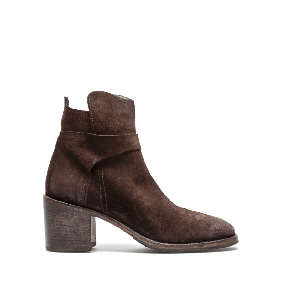 Women's Shoes Ankle Boots MOMA 1CW184 Crosta TMoro Dark Brown Leather