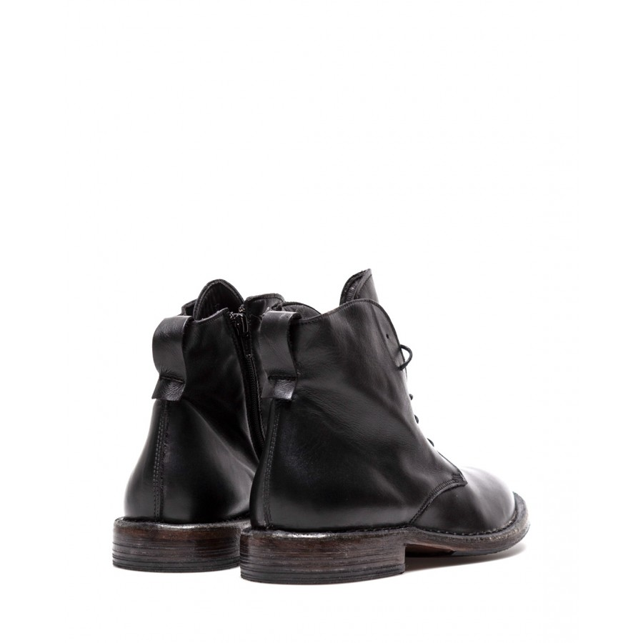 Women's Shoes Ankle Boots MOMA 1CW003 Black Calf Leather