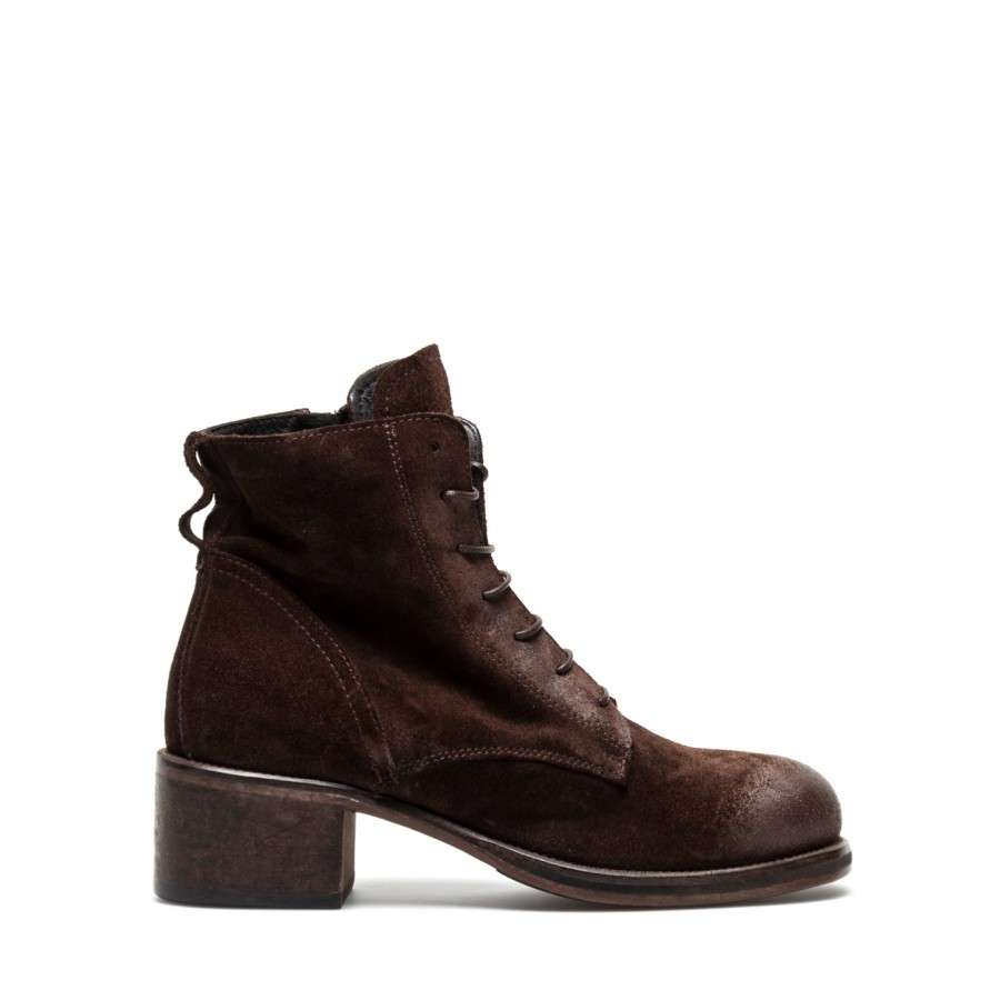 Women's Shoes Ankle Boots MOMA 1BW149 Crosta TMoro Leather Dark Brown