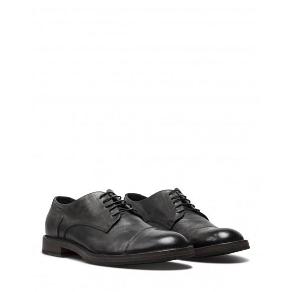 Men\'s Classic Shoes PANTANETTI 14971D Tudor Obscuro Leather Black