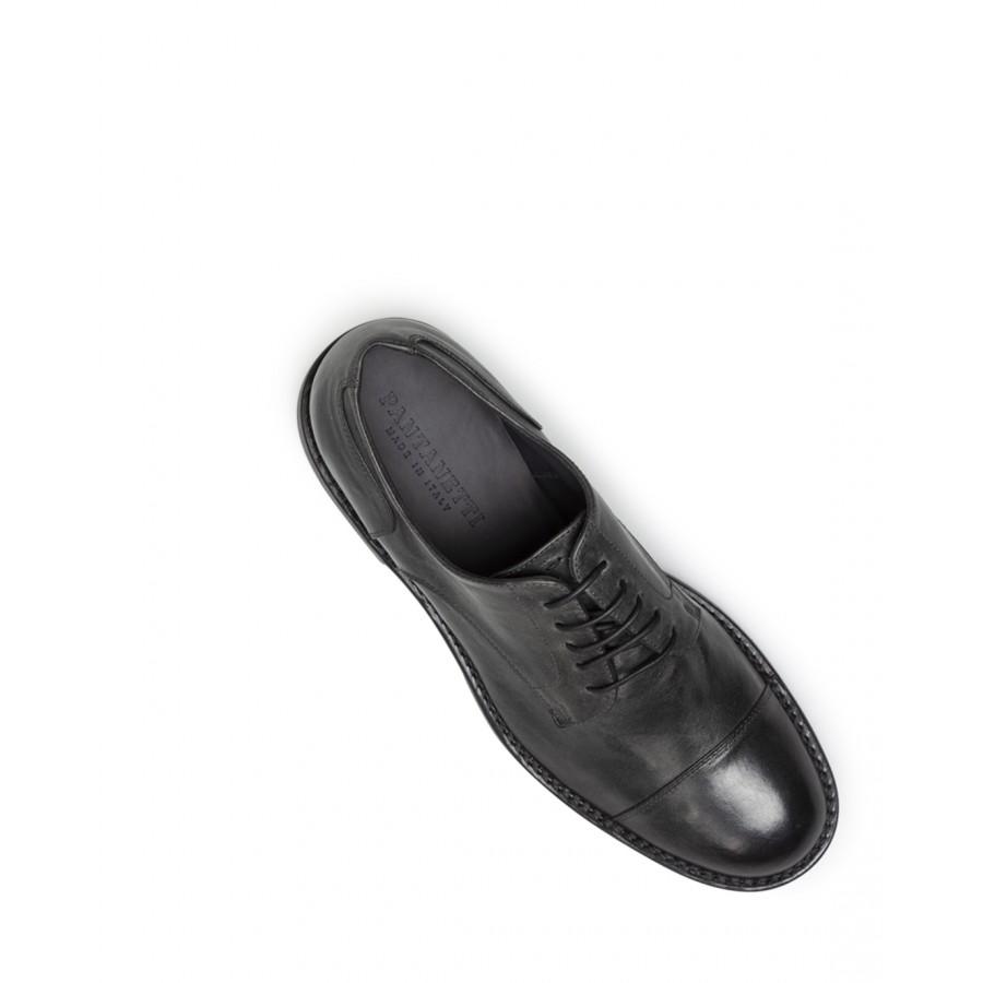Men's Classic Shoes PANTANETTI 14971D Tudor Obscuro Leather Black
