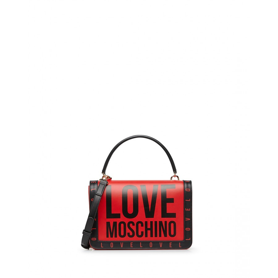 Women's Hand Schoulder Bag LOVE MOSCHINO JC4181 Pu Red Synthetic Leather