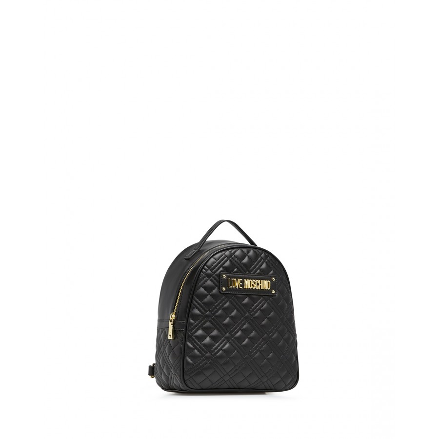 Women's Bag Backpack LOVE MOSCHINO JC4134 Pu Black Synthetic Leather
