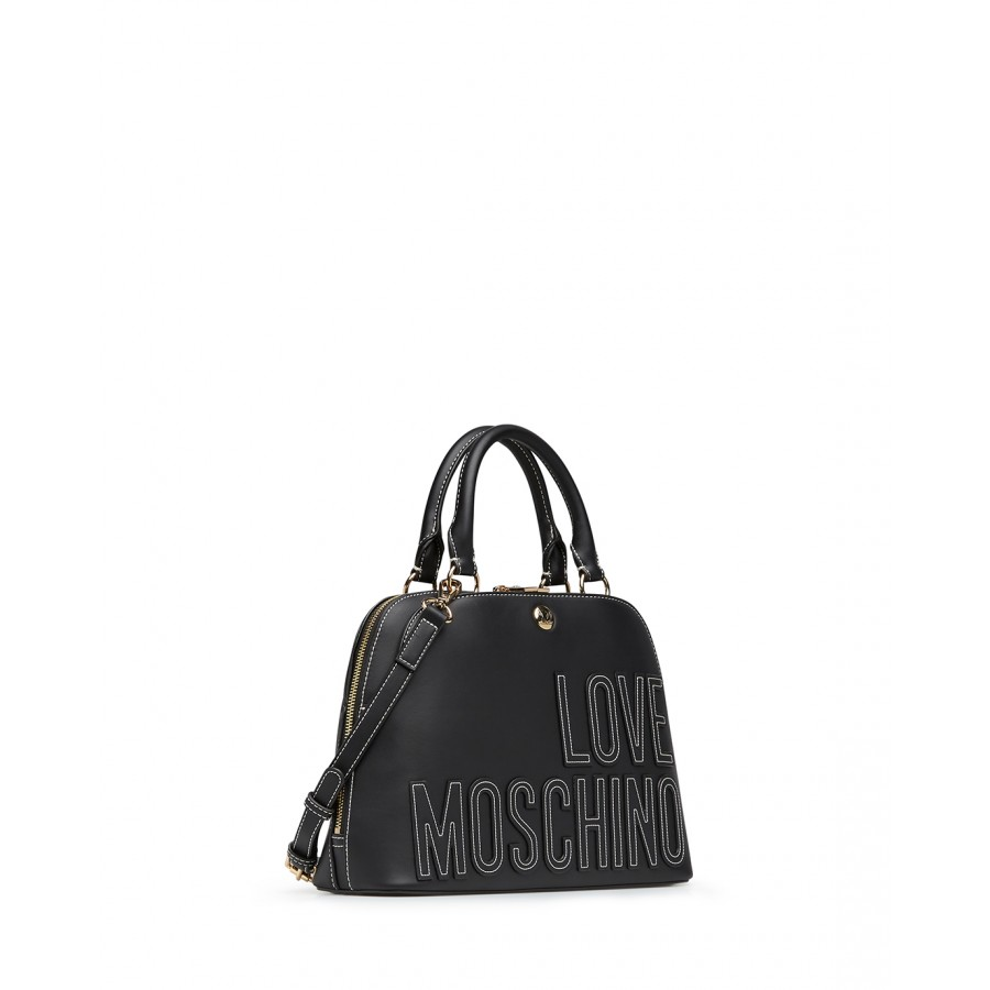 Women's Hand Shoulder Bag LOVE MOSCHINO JC4176 Pu Black Synthetic Leather