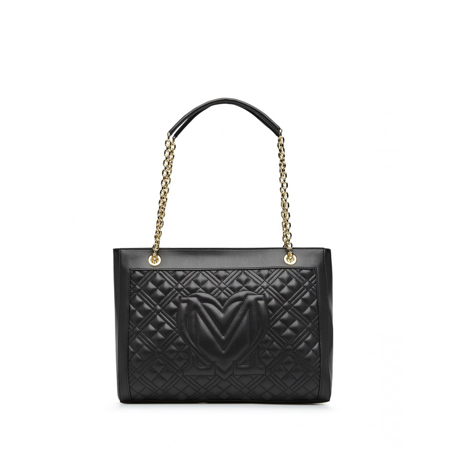 Women's Shoulder Bag LOVE MOSCHINO JC4006 Pu Black Synthetic Leather