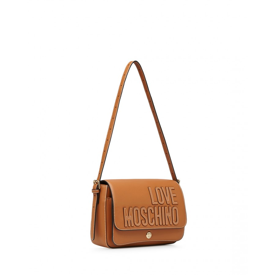 Women's Shoulder Bag LOVE MOSCHINO JC4175 Pu Biscuit Brown Synthetic Leather