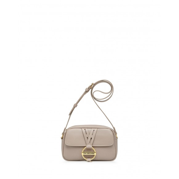 Women\'s Shoulder Bag LOVE MOSCHINO JC4201 Pu Gray Synthetic Leather