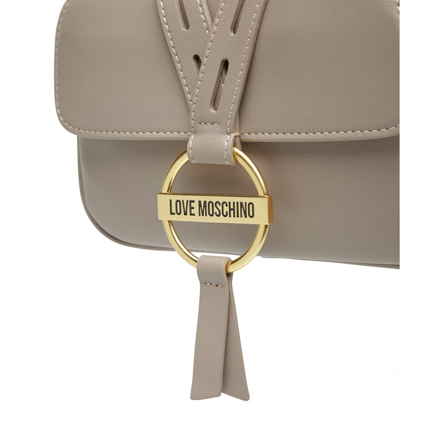 Women's Shoulder Bag LOVE MOSCHINO JC4201 Pu Gray Synthetic Leather
