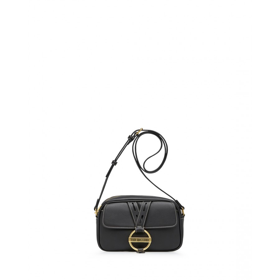 Women's Shoulder Bag LOVE MOSCHINO JC4201 Pu Black Synthetic Leather