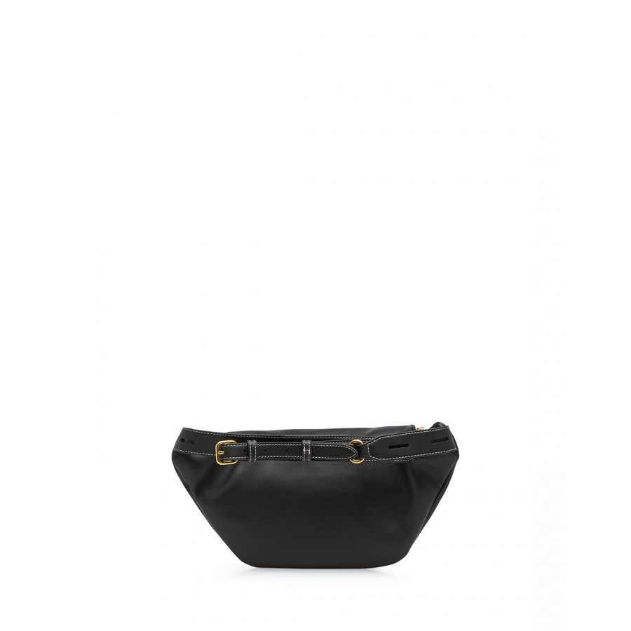 Women's Shoulder Belt Bag LOVE MOSCHINO JC4202 Pu Black Synthetic Leather
