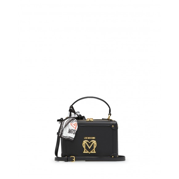 Women\'s Hand Shoulder Bag LOVE MOSCHINO JC4214 Pu Black Synthetic Leather