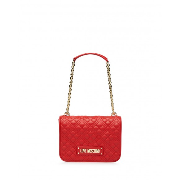 Women\'s Shoulder Bag LOVE MOSCHINO JC4000 Pu Red Synthetic Leather