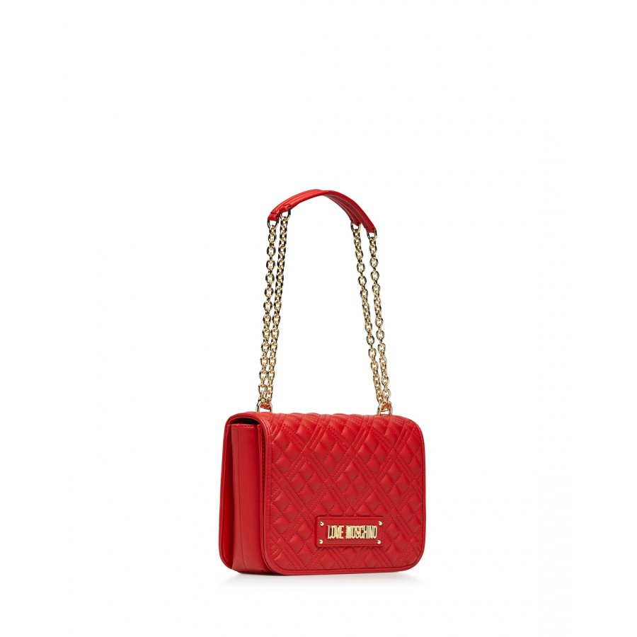 Women's Shoulder Bag LOVE MOSCHINO JC4000 Pu Red Synthetic Leather