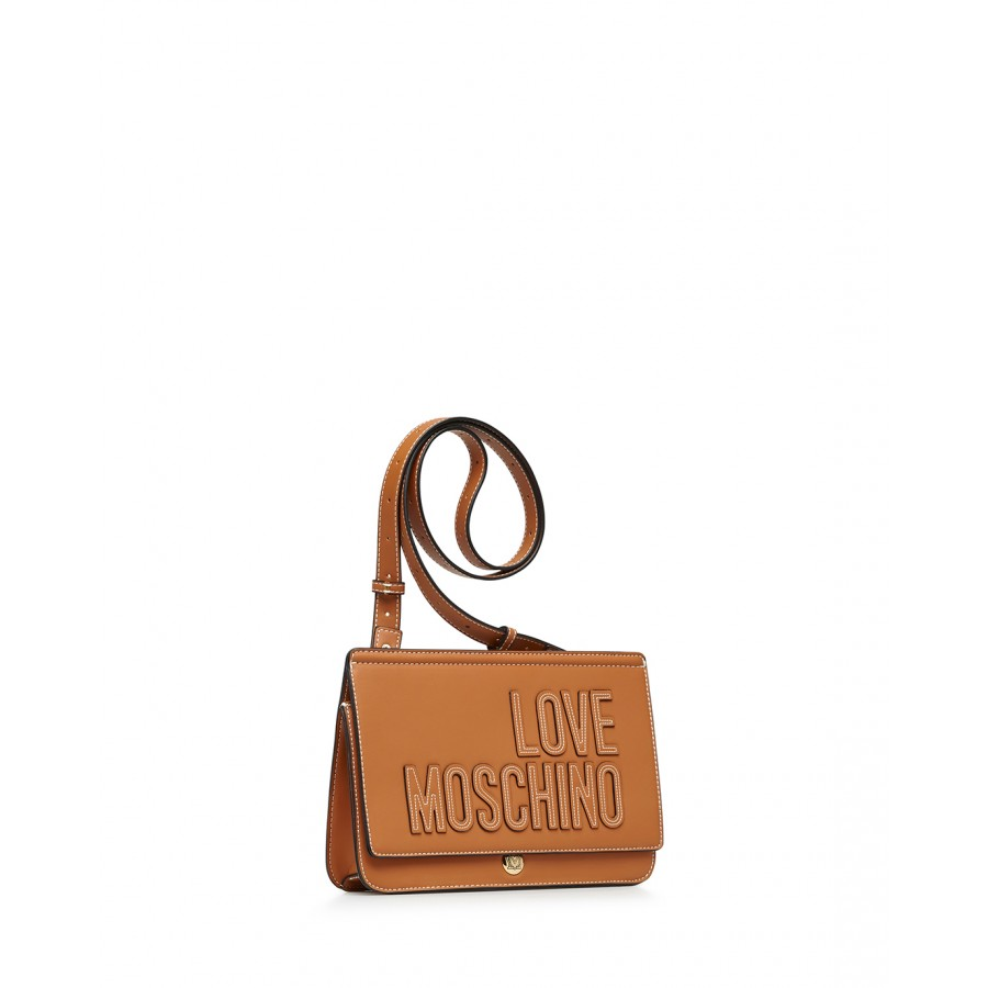 Women's Shoulder Bag LOVE MOSCHINO JC4179 Pu Biscuit Brown Synthetic Leather