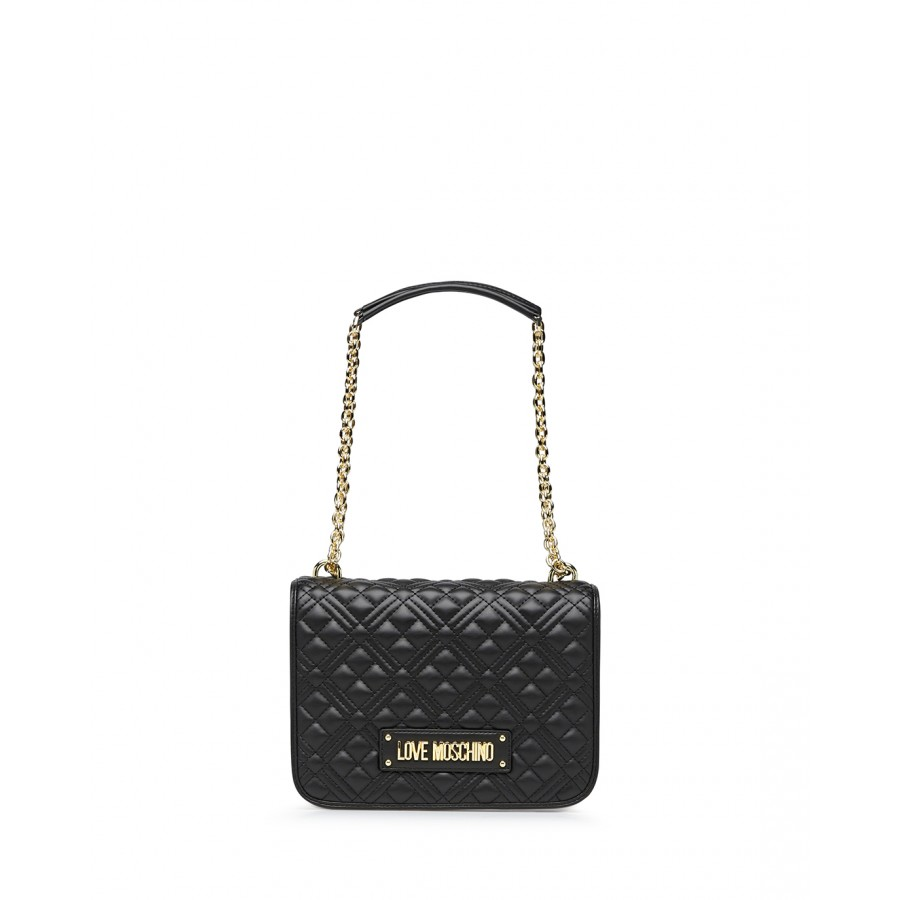 Women's Shoulder Bag LOVE MOSCHINO JC4000 Pu Black Synthetic Leather