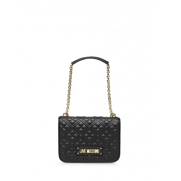 Women\'s Shoulder Bag LOVE MOSCHINO JC4000 Pu Black Synthetic Leather