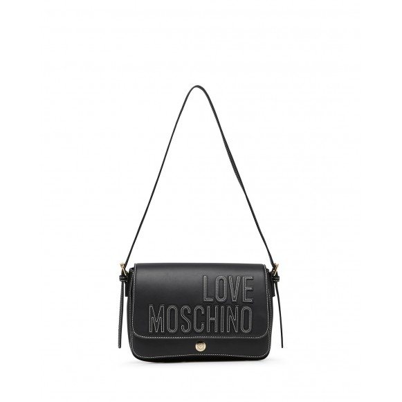 Women\'s Shoulder Bag LOVE MOSCHINO JC4175 Pu Black Synthetic Leather