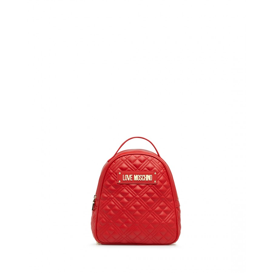 Women's Bag Backpack LOVE MOSCHINO JC4134 Pu Red Synthetic Leather