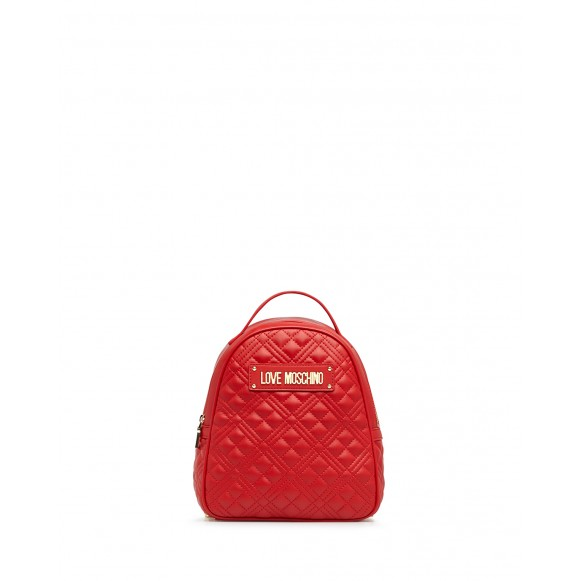 Women\'s Bag Backpack LOVE MOSCHINO JC4134 Pu Red Synthetic Leather