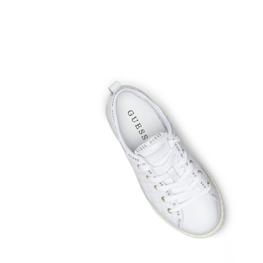 Women's Shoes Sneakers GUESS FL7PEYELE12 White Leather