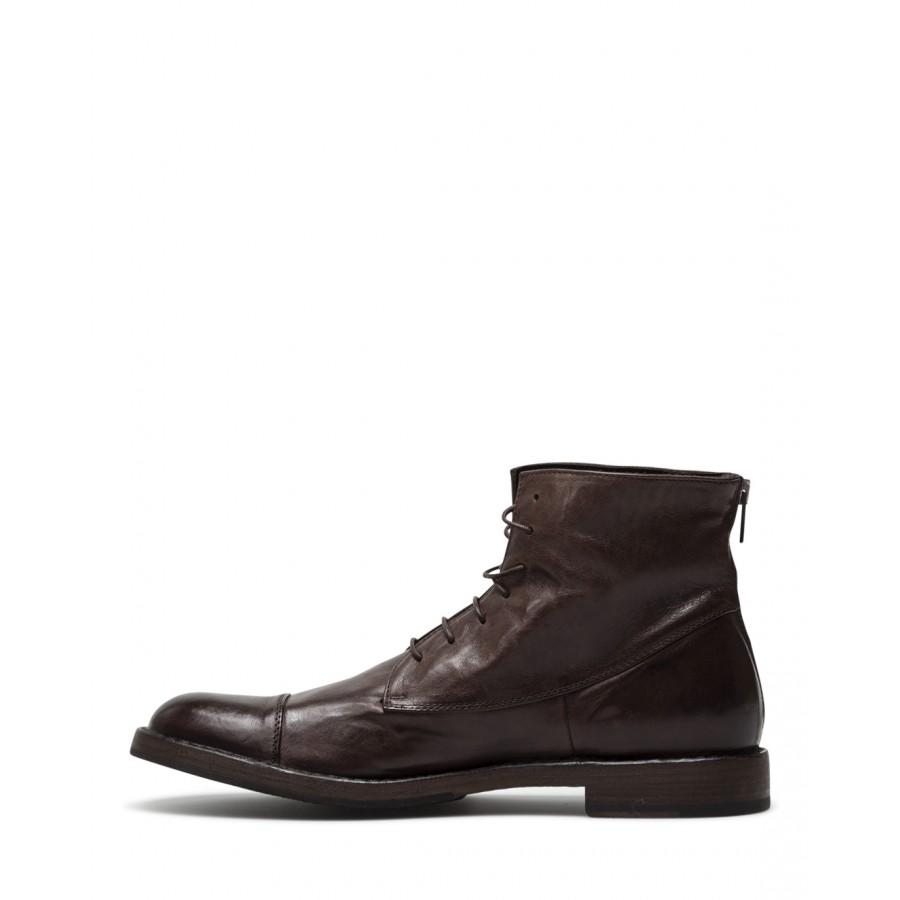 Men's Ankle Boots PANTANETTI 14970D Tudor Moka Brown Leather