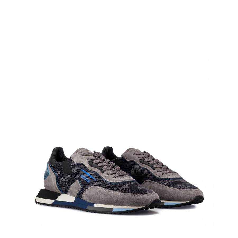 Men's Shoes Sneakers GHOUD RMLM MC49 Grey Camouflage Nylon Suede