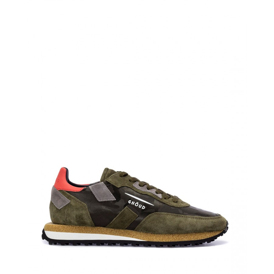 Men's Shoes Sneakers GHOUD RSLM CS12 Milit Camouflage Suede Green