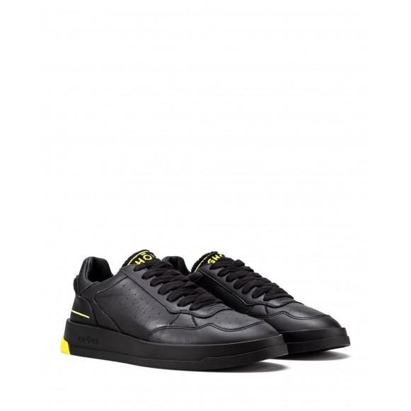 Men\'s Shoes Sneakers GHOUD TWLM CS18 Blk Ylw Leather Black