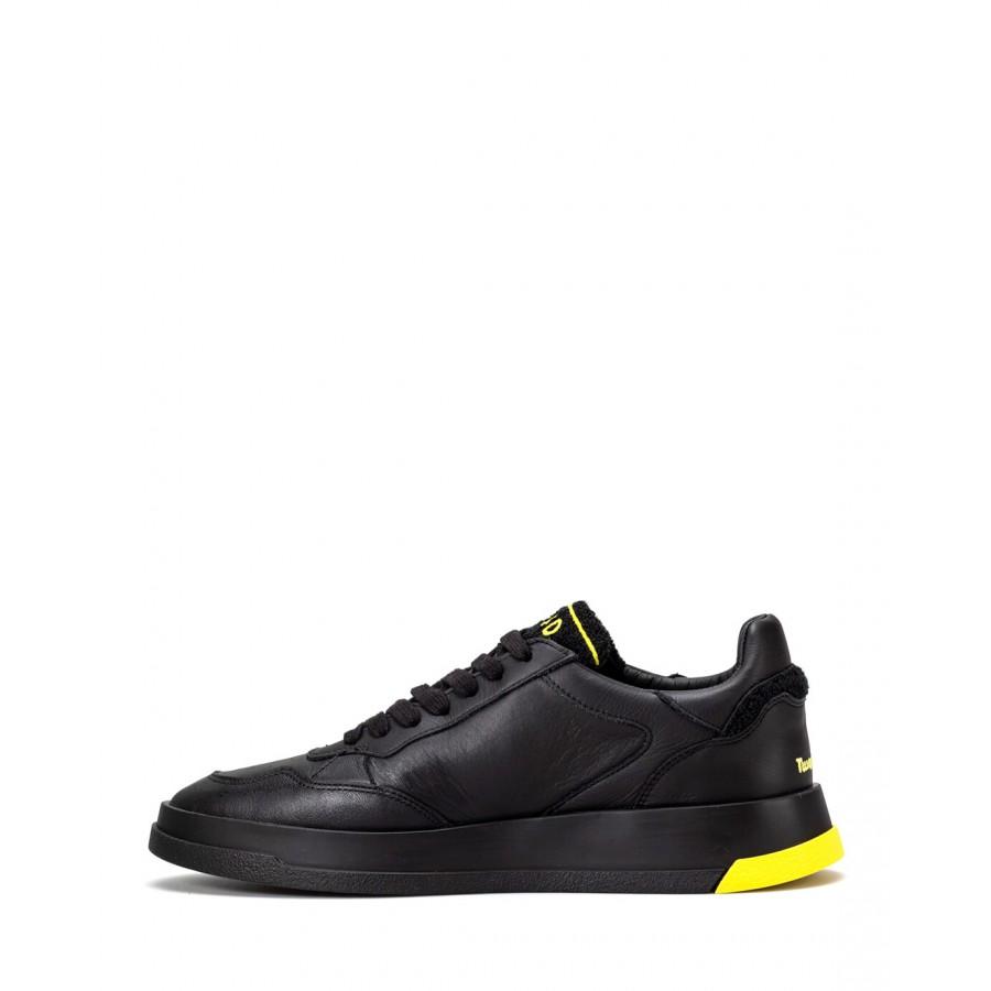 Men's Shoes Sneakers GHOUD TWLM CS18 Blk Ylw Leather Black