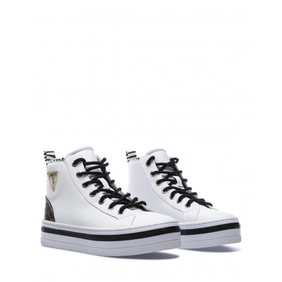Women\'s High Top Sneakers Shoes GUESS FL7BSGELE12 White
