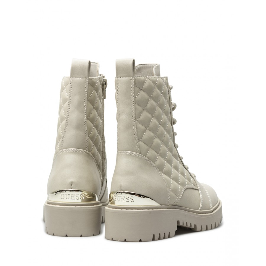 Women's Ankle Boots Shoes GUESS FL7OMAELE10 Vanil Cream