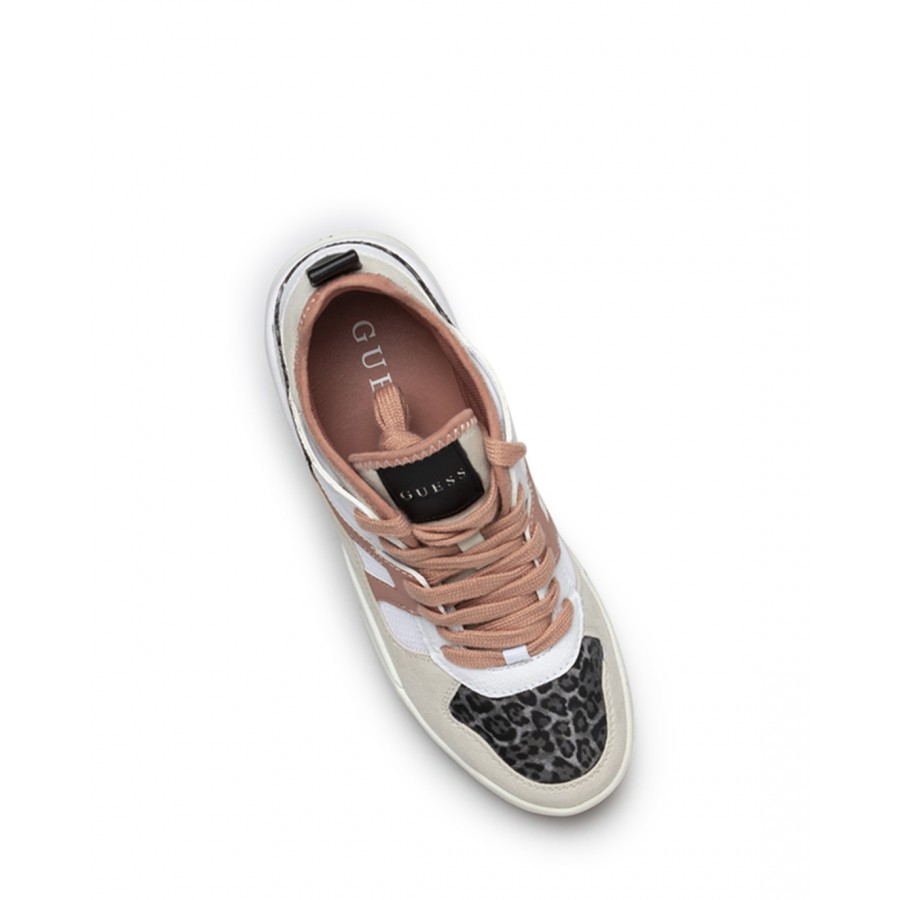 Women's Shoes Sneakers GUESS FL7DR2FAB12 Whi Pi White Pink