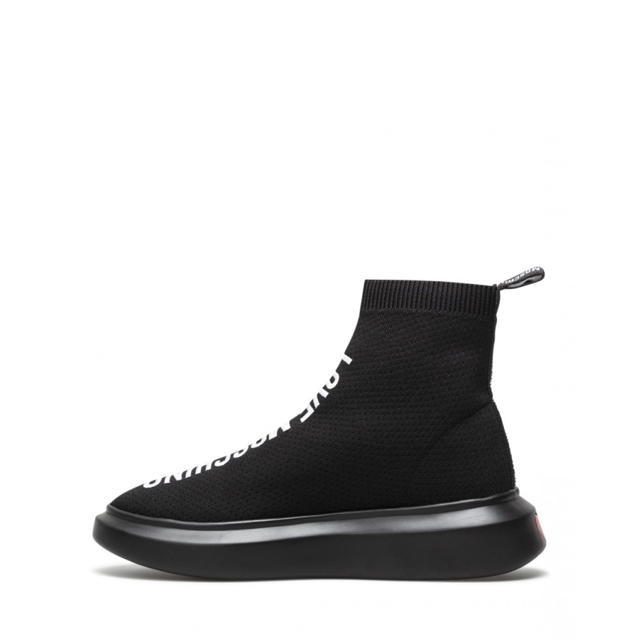 Women's Sneakers Shoes Sock LOVE MOSCHINO JA15184 Calza Black