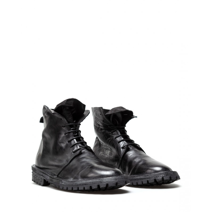 Men's Ankle Boots MOMA 2CW103 Bufalo T Nero Leather Black