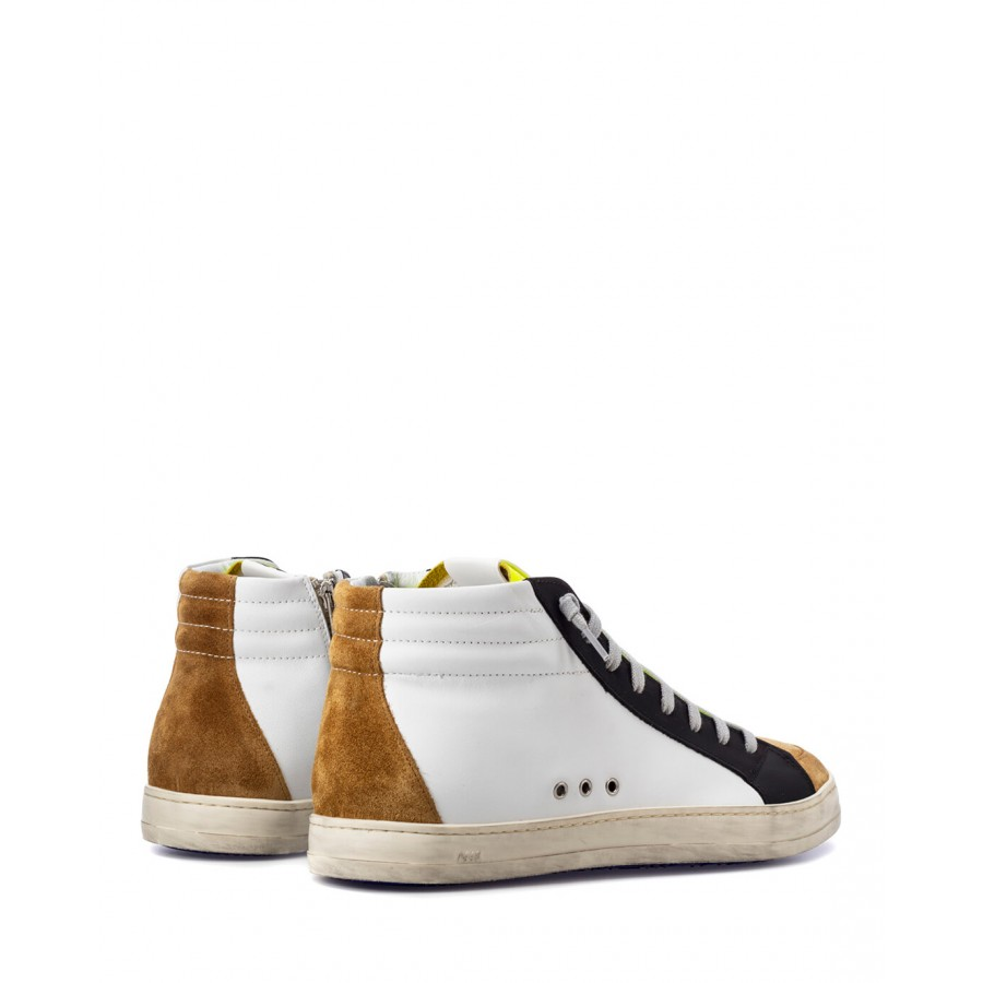 Men's Shoes Sneakers P448 SkateM Whi Cam Leather White