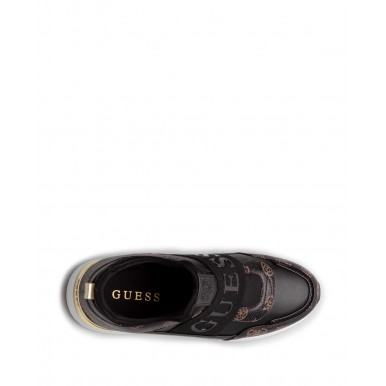 Women's Sneakers Shoes GUESS FL6MYIFAL12 Black Synthetic
