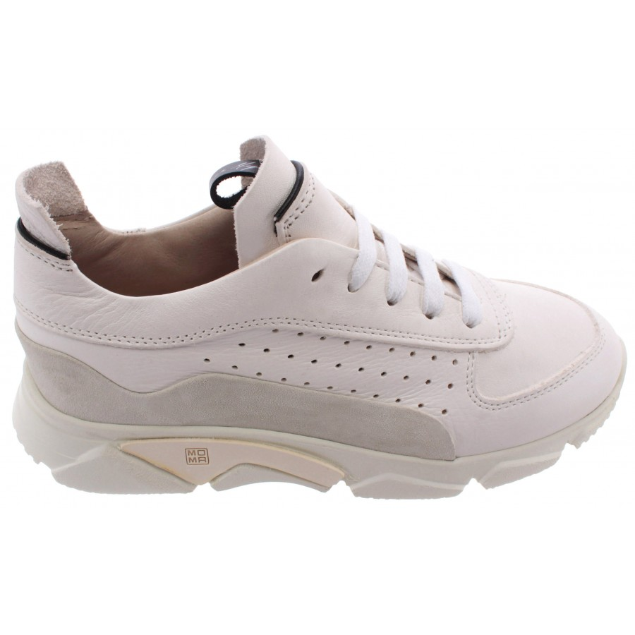 Women's Sneakers MOMA 3AS010-CT Paradigma Bianco Leather White