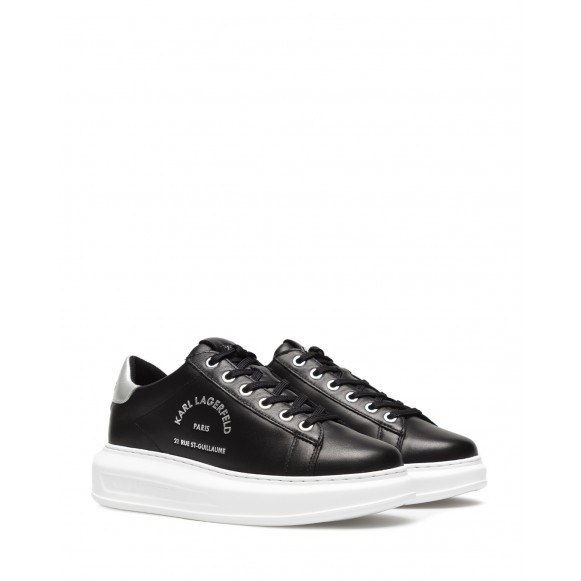 Women\'s Shoes Sneakers KARL LAGERFELD KL62538 00S Black Silver Leather
